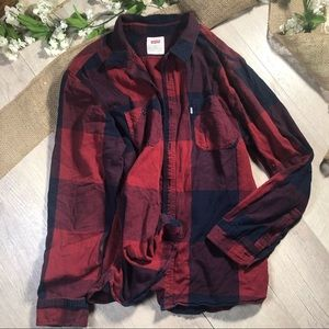 Levi's red and black flannel XXL